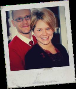 Scott and Jen Old Polaroid