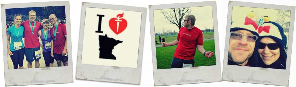 run with heart polaroid collage