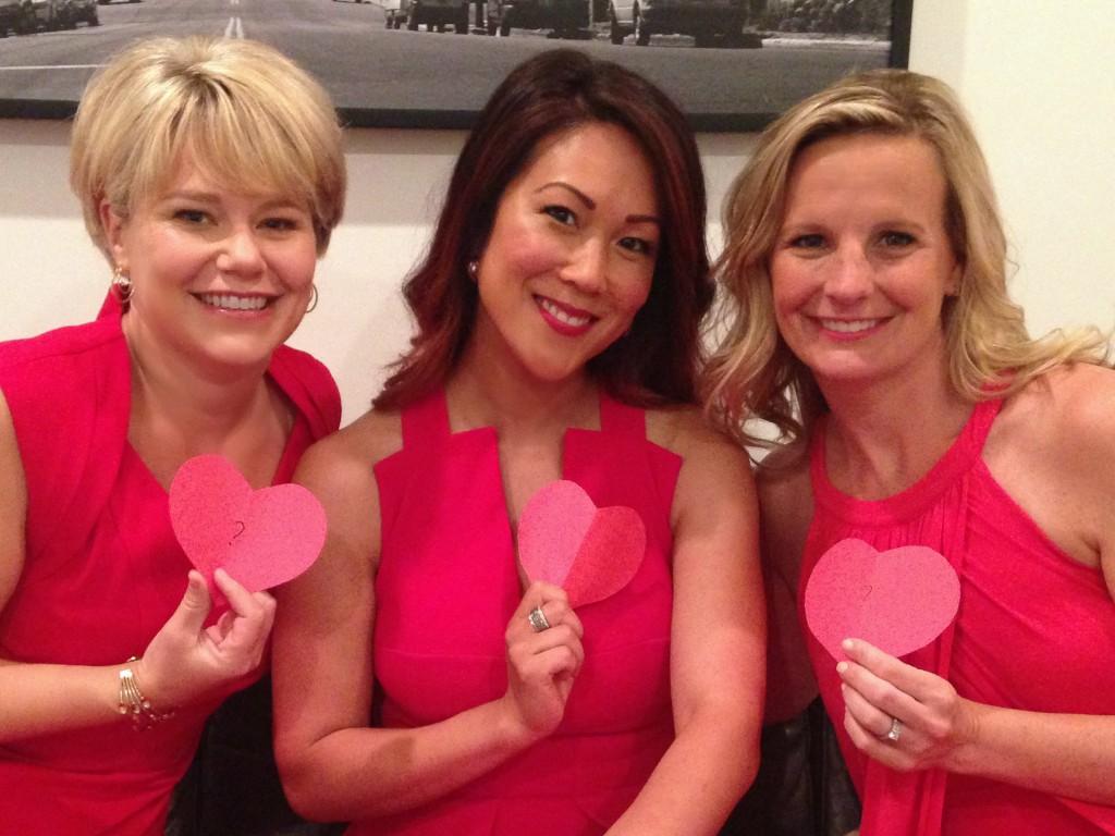 Jen Miriam Lisa with hearts