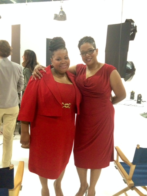 Rhonda and Julia in their dresses