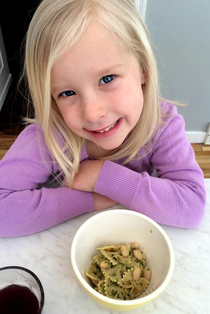 Lauren with pasta