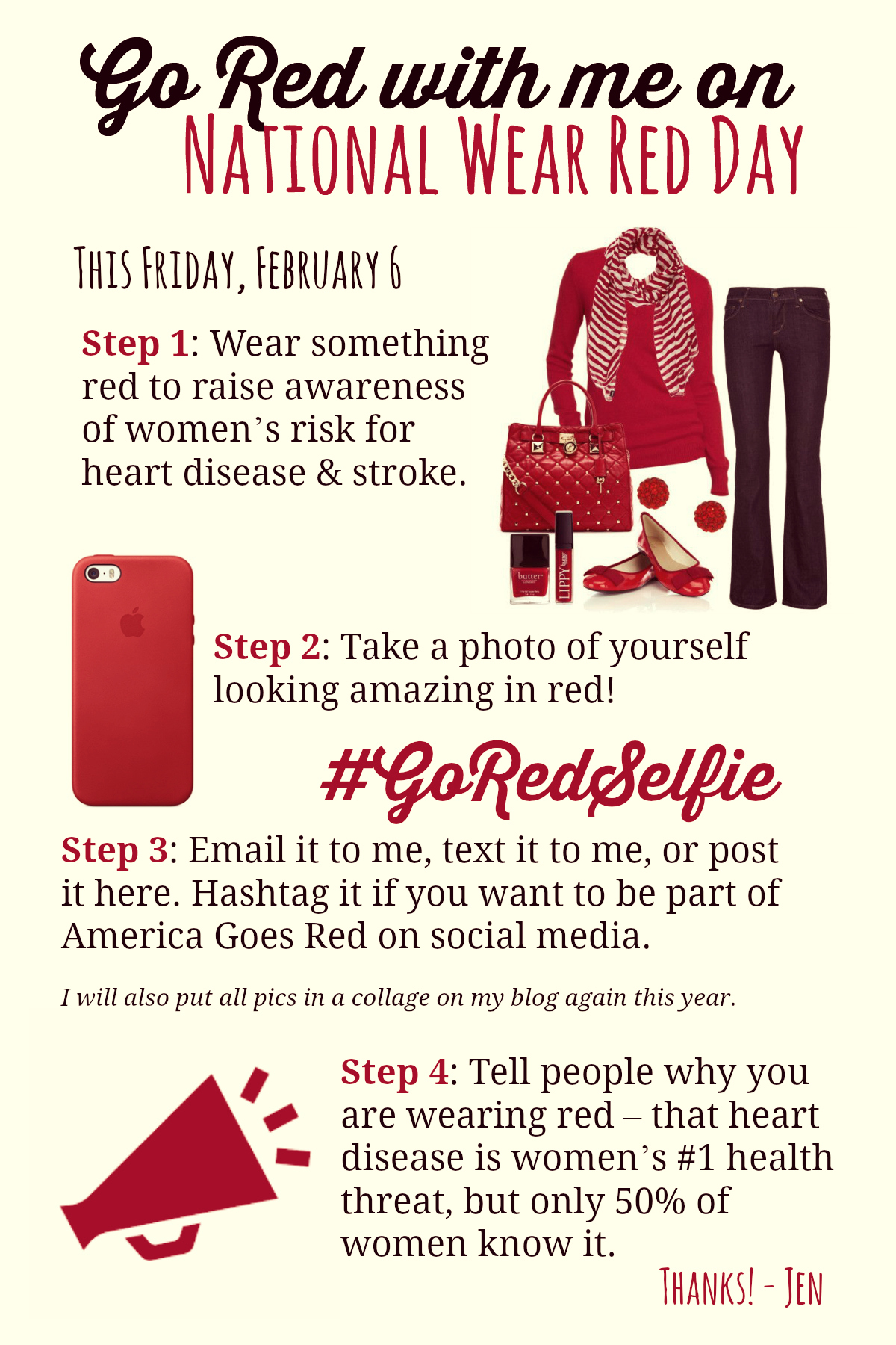 wear red day infographic rapture