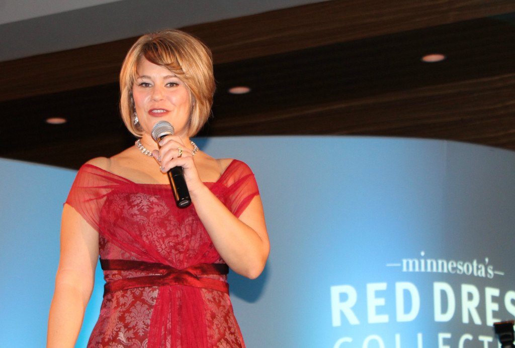 Speaking at Minnesota's Red Dress Collection Show at the Loews Hotel, Minneapolis March 2015