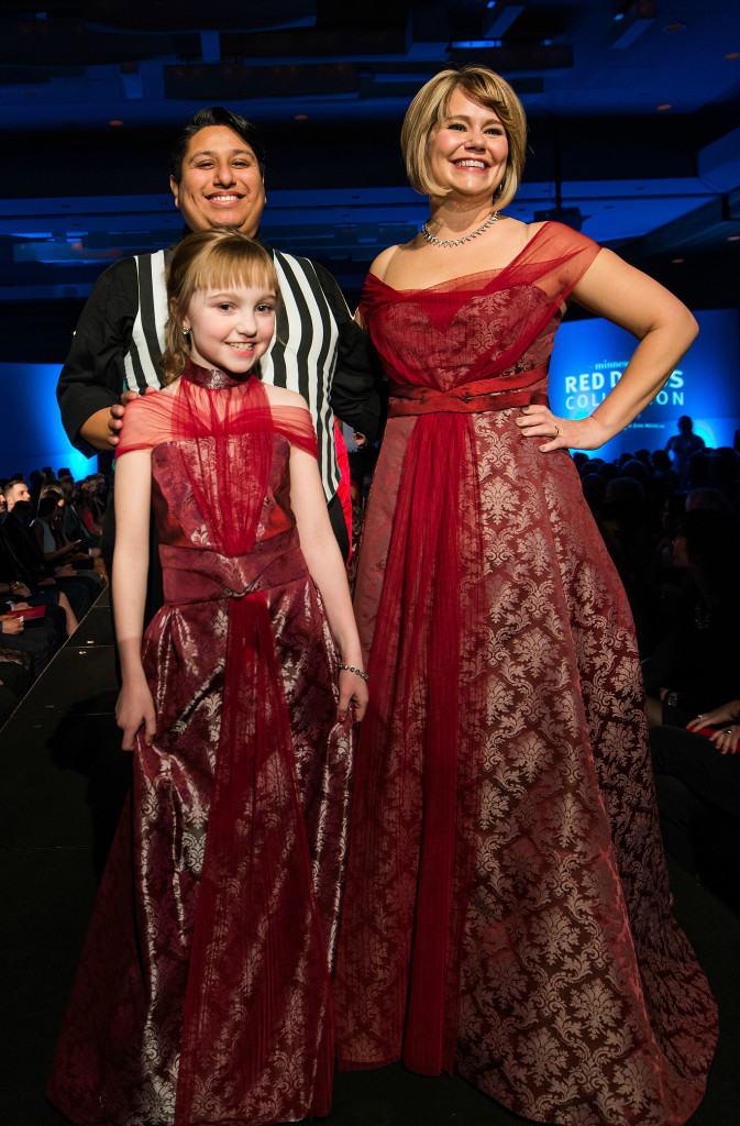 Jen Thorson and Thom Navarro at the Minnesota's Red Dress Collection Show at the Loews Hotel, Minneapolis March 2015