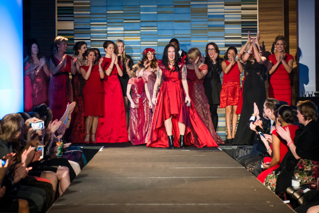 Finale of the Minnesota's Red Dress Collection Show at the Loews Hotel, Minneapolis March 2015