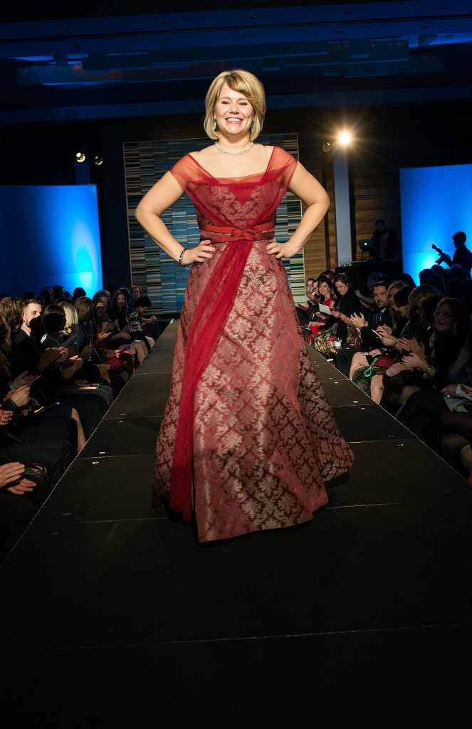 Jen Thorson on runway at the Minnesota's Red Dress Collection Show at the Loews Hotel, Minneapolis March 2015